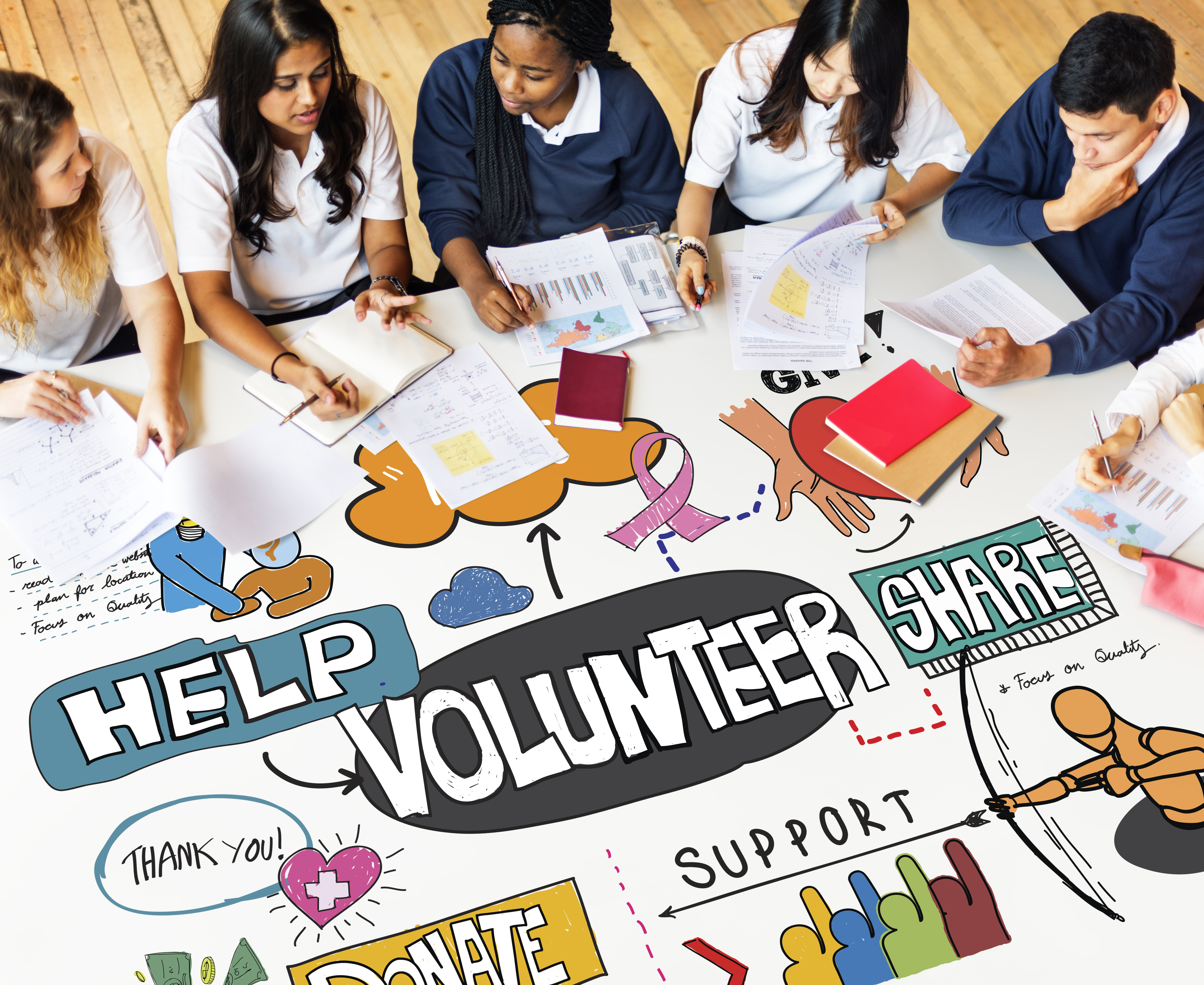 volunteer opportunities students table